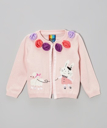 Pink Intarsia Cardigan - Infant & Toddler