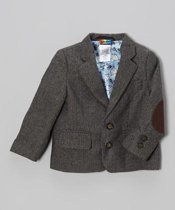 Brown Tweed Blazer - Toddler