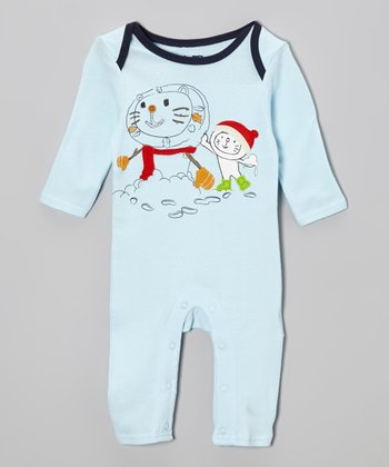 Blue Lapneck Playsuit - Infant