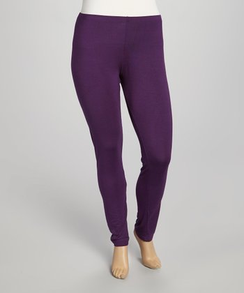 Eggplant Leggings - Plus