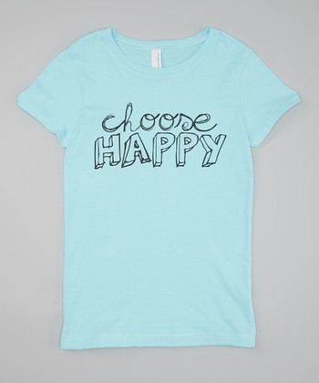 Aqua 'Choose Happy' Tee - Girls