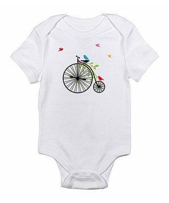 White Big Wheel Bodysuit - Infant