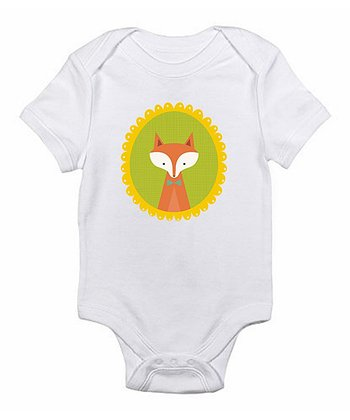 White Fox Bodysuit - Infant