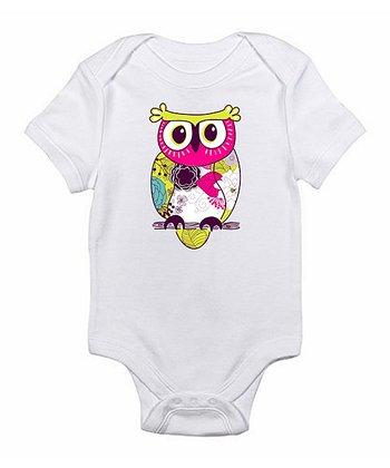 White Owl Bodysuit