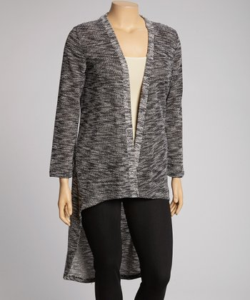 Black Marled Duster - Plus