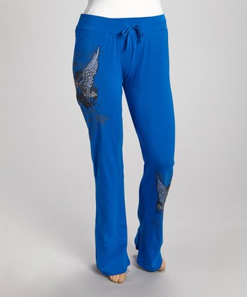 Royal Blue Wings Lounge Pants - Plus