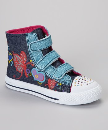 Blue Adjustable Hi-Top Sneaker