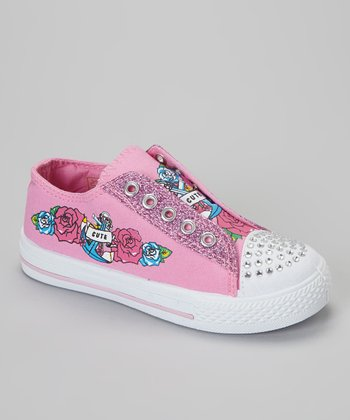 Pink 'Cute' Slip-On Sneaker