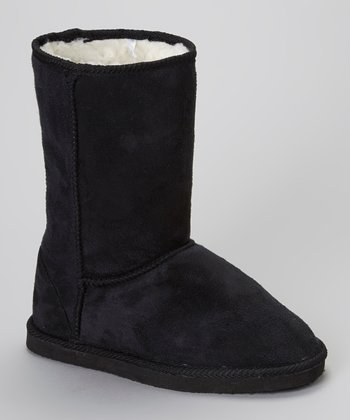 Black Faux Shearling Lined Boot