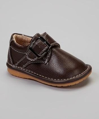 Brown Buckle Squeaker Shoe