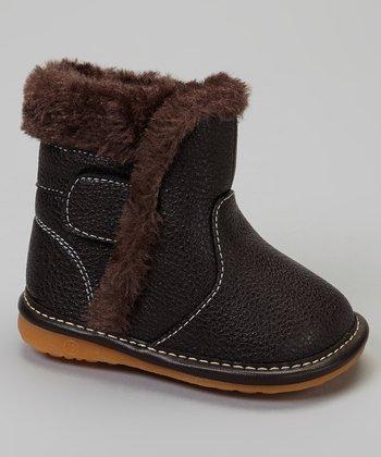 Laniecakes Brown Faux Fur Squeaker Boot