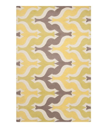 Yellow Wilder Wool Rug