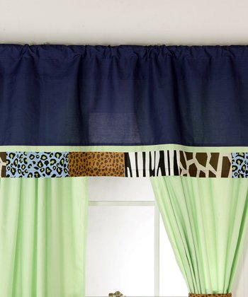 Blue & Green Jazzie Jungle Valance