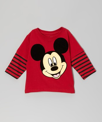 Red Mickey Layered Tee - Infant & Toddler