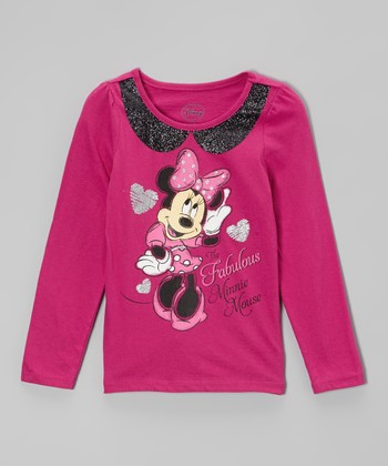 Pink Minnie Long-Sleeve Tee - Toddler & Girls