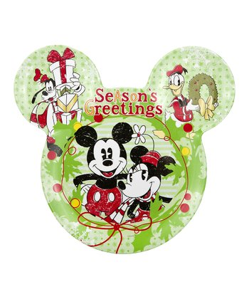 Mickey & Minnie Holiday Plate