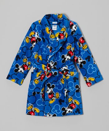 Royal Blue Mickey Robe - Toddler
