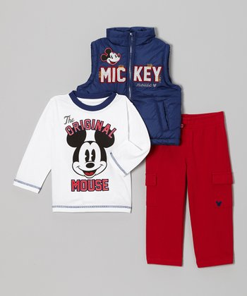 Navy Mickey The Original Vest Set - Infant
