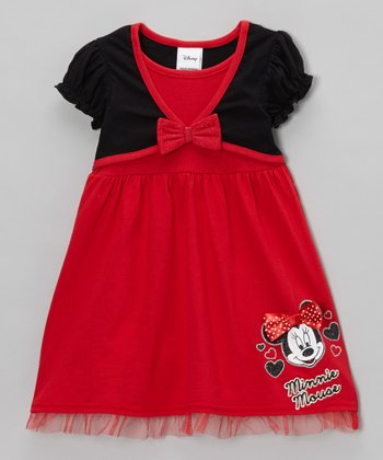 Red Minnie Ruffle Dress & Shrug - Toddler & Girls