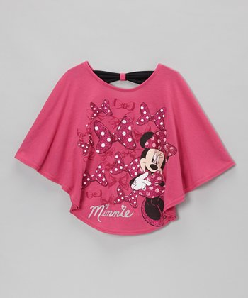 Fuchsia Bows Dolman Top - Girls