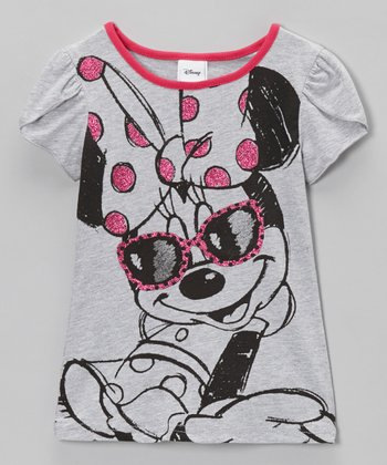 Heather Gray Shades Petal-Sleeve Tee - Toddler & Girls