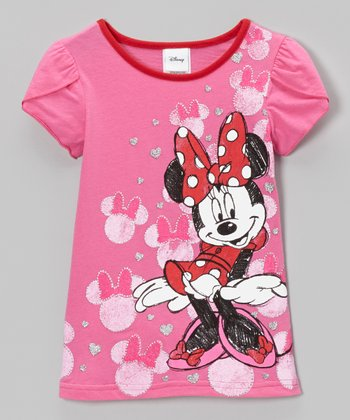 Fuchsia Heads Petal-Sleeve Tee - Toddler & Girls