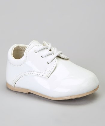 White Lace-Up Dress Shoe