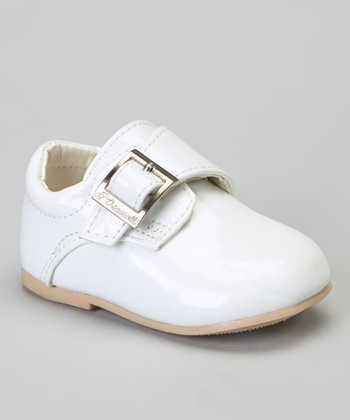 White Patent Stitched Dress Shoe