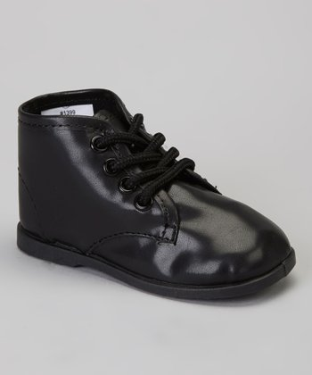 Black High-Top Dress Shoe