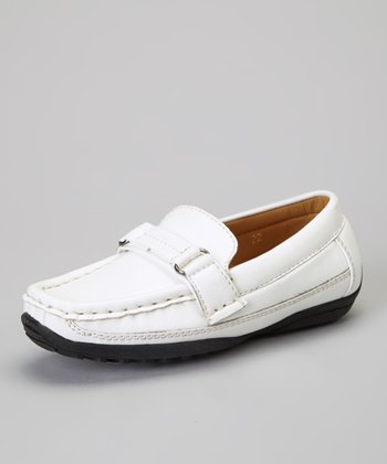 White Single-Strap Loafer