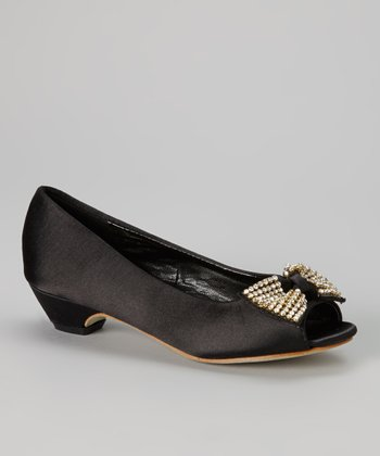 Black & Gold Bow Pump