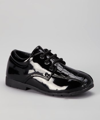 Black Crocopa Dress Shoe