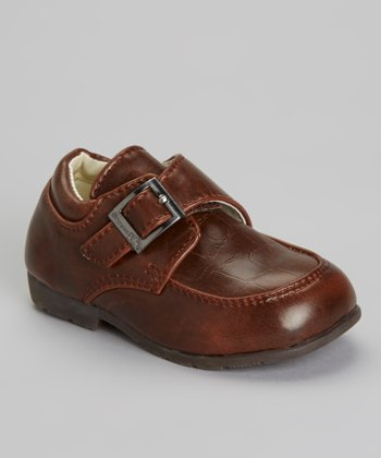 Brown Crocosm Buckle Dress Shoe