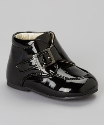 Black Croco Buckle Dress Shoe