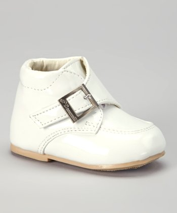 White Croco Buckle Dress Shoe