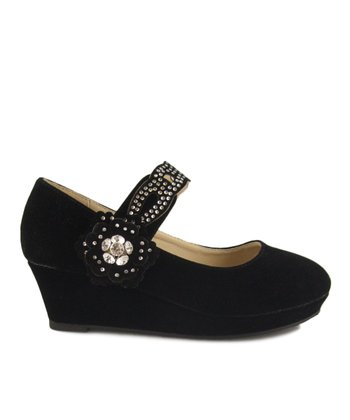 Black Erika Wedge Mary Jane