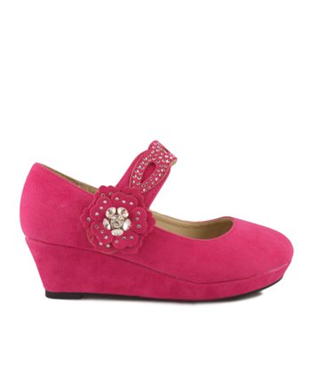 Fuchsia Erika Wedge Mary Jane