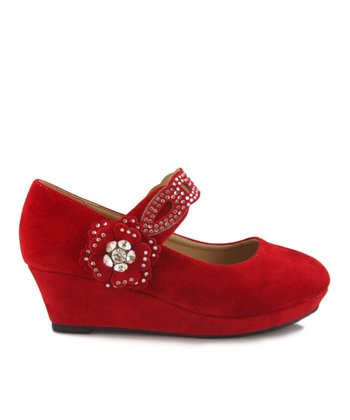 Red Erika Wedge Mary Jane