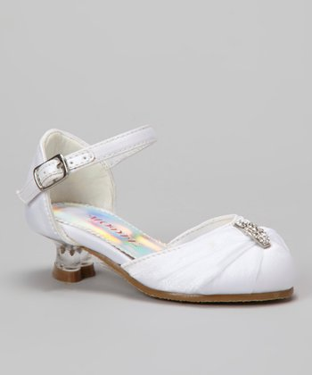 White Tira 101 Ankle Strap Shoe - Girls