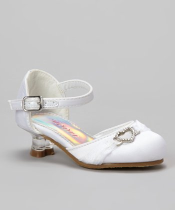 White Tira 103 Ankle Strap Shoe - Girls