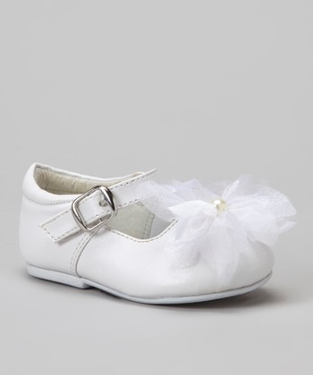 White Wawa T-Strap Shoe - Girls