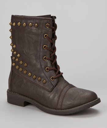 Brown Studded Andrea Boot