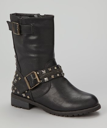 Black Studded Mango Boot