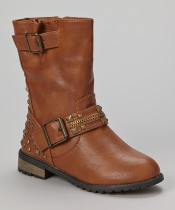 Tan Studded Mango Boot