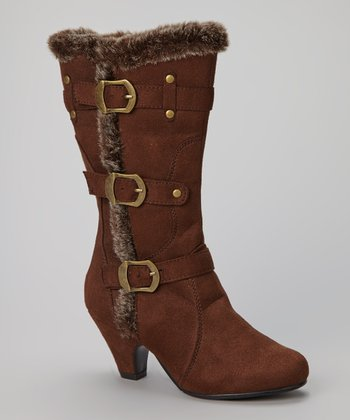 Brown Faux Fur Pauline Boot
