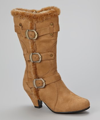 Camel Faux Fur Pauline Boot