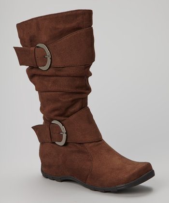 Brown Double-Buckle Valley Boot