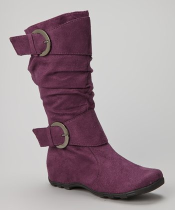 Purple Double-Buckle Valley Boot