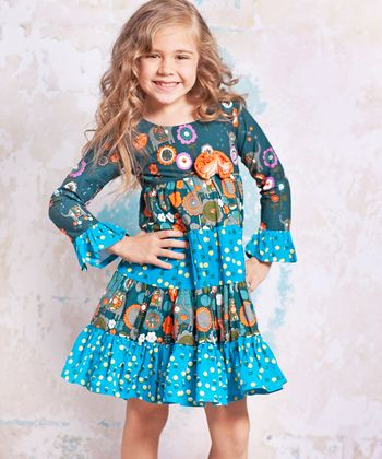 Blue Agra Cameron Dress - Infant, Toddler & Girls