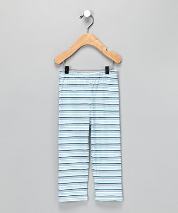 Blue Stripe Organic Pants